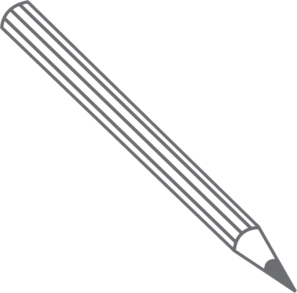 The outline of a pencil