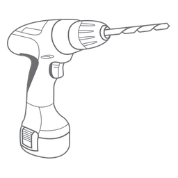 The outline of a drill